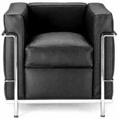 le corbusier sessel lc2 einsitzer easy chair armchair. Black Bedroom Furniture Sets. Home Design Ideas
