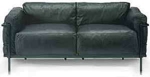 le corbusier sofa lc grande comfort zweisitzer two. Black Bedroom Furniture Sets. Home Design Ideas